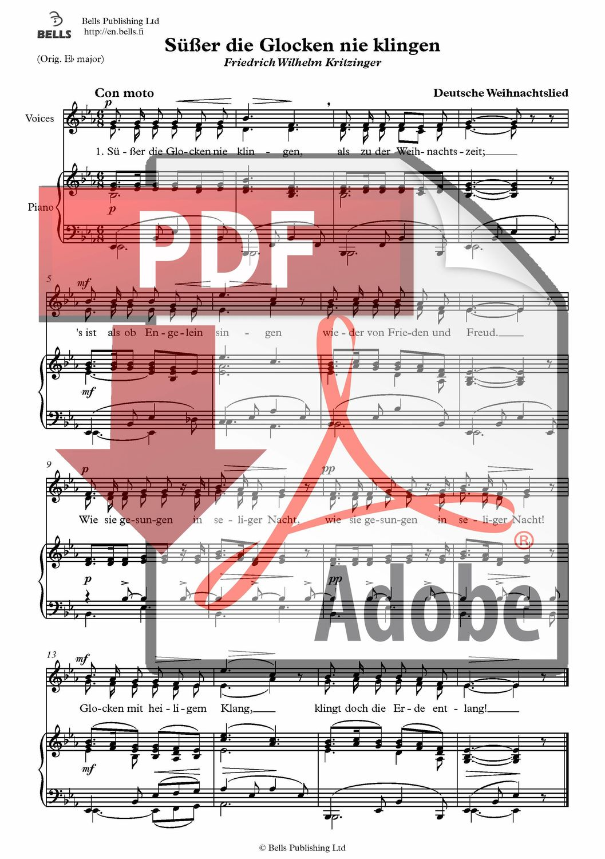 Trad.: Süßer die Glocken nie klingen (pdf) (Duett) | Bells Webshop